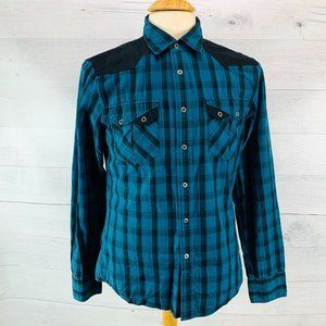 G By Guess Western Metal Snap Shirt S